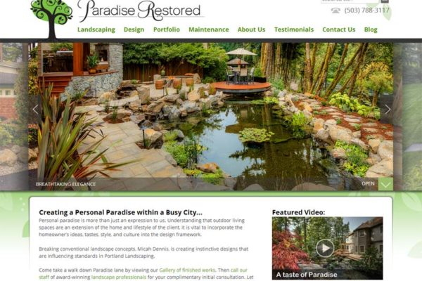Paradise Restored Website