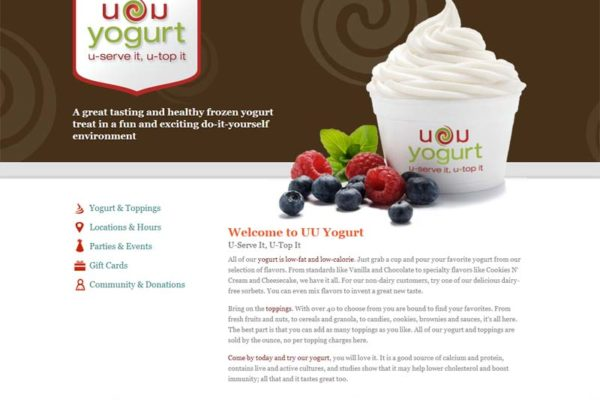 UU Yogurt Website